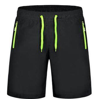 Harga M-4XL Men Sports Drawstring Shorts With Pocket Workout Running Board Shorts Gym Quick Dry Short Pants Beach Surfing Sweatpants