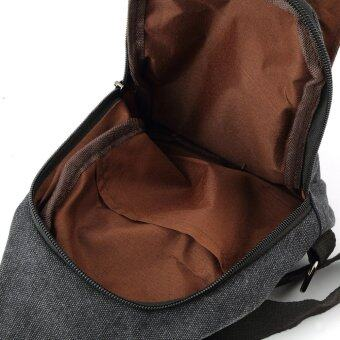Allwin ทหารม้าเร็วไหล่คนตัวเล็กเดินป่าท่องเที่ยวผ้าใบกระเป๋ากระเป๋าเป้สีดำ (image 2)