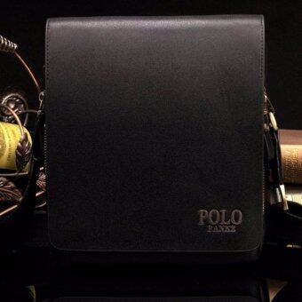 MATTEO กระเป๋าสะพาย กระเป๋าหนัง ผู้ชาย รุ่น POLO FANKE 1620 - สีดำ