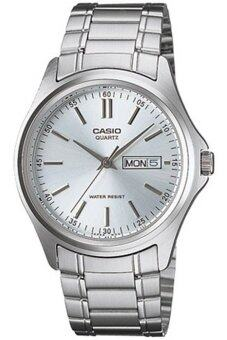 Casio Standard นาฬิกาข้อมือผู้ชาย สีเงิน/หน้าขาว สายสแตนเลส รุ่น MTP-1239D-7ADF