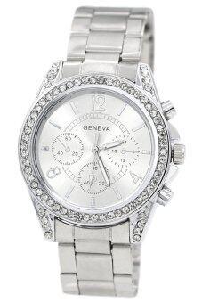 Bluelans หญิงเงินนาฬิกาสายสเตนเลส