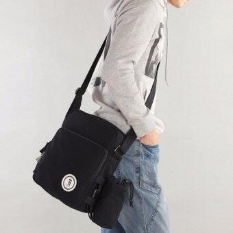 Osaka กระเป๋าสะพายข้าง ผ้าcanvas รุ่น UP107 (สีดำ)
