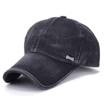 ผู้หญิงธรรมดาคนสวมหมวกเบสบอลนิยมปรับได้กีฬา Snapback ฮิพฮอพหาด (สีดำ)-ระหว่างประเทศ