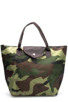 DM กระเป๋าถือ ลายทหาร - Green