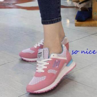 Alisa Shose รองเท้าผ้าใบแฟชั่น Comfort รุ่น A8103 Pink