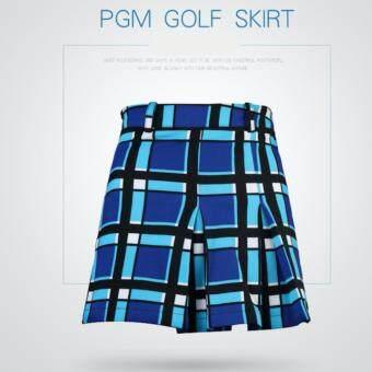 กระโปรงกอล์ฟสำหรับสุภาพสตรี PGM สีน้ำเงิน (QZ007) BLUE COLOUR