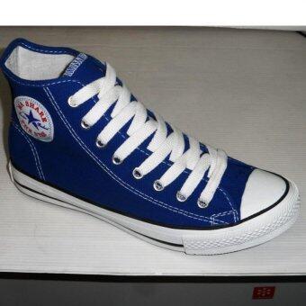 Mashare รองเท้าผ้าใบแฟชั้น มาแชร์หุ้มข้อ M-222 สีน้ำทะเล