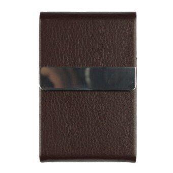 Marino กระเป๋านามบัตร กล่องแม่เหล็กใส่นามบัตร รุ่น H003 - D.Brown