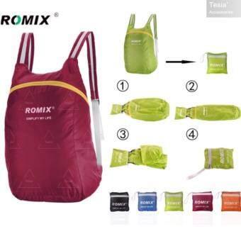 tesia ROMIX กระเป๋าเป้กันน้ำพับได้ Waterproof Foldable Backpackred