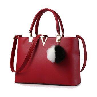 2559 ใหม่สั้นนุ่มแฟชั่นผู้หญิงกระเป๋าหนัง pu ความจุขนาดใหญ่สไตล์ยุโรปกระเป๋าถือกระเป๋าสะพายสี Crossbody ตาย-ระหว่างประเทศ