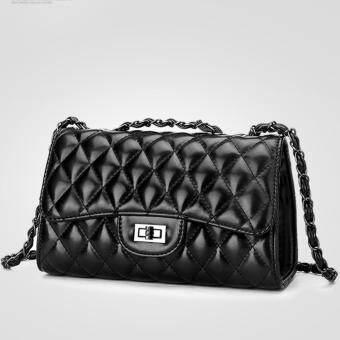 Little Bag กระเป๋าถือ กระเป๋าแฟชั่น กระเป๋าสะพายพาดลำตัว รุ่น LB-074 (สีดำ)