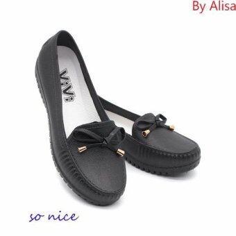 Alisa Shoes รองเท้า พลาสติคแฟชั่น รุ่น 8009 Black