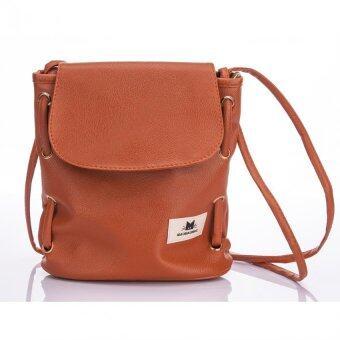 Premium Bag กระเป๋าแฟชั่น กระเป๋าสะพายข้าง รุ่น PB-011 (สีส้ม)