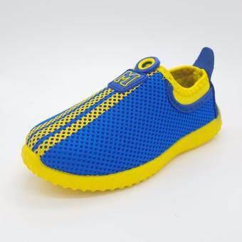 Alice Shoe รองเท้าเด็ก รองเท้าผ้าใบแฟชั่นแบบสวม ลายตาข่าย เด็กผู้หญิง&เด็กผู้ชาย รุ่น CVS001-BE (สีน้ำเงิน)