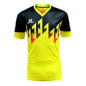 WARRIX SPORT เสื้อฟุตบอลพิมพ์ลาย WA-1519 ( สีเหลือง-ดำ )