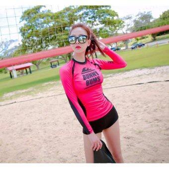 S01030 OEM ชุดว่ายน้ำแขนยาวแบบเซท 3 ชิ้น Rashguard เสื้อสำหรับสวมใส่เล่นกีฬาทางน้ำ ว่ายน้ำ ดำน้ำ