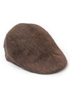 ชายสวมหมวกตลอดไป Fancyqube Gatsby เถาแบนคนขับสวมหมวกนักกอล์ฟขนมปังกาแฟ