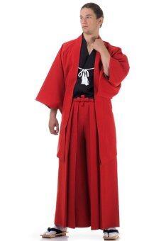 Princess of asia ชุดฮากามะพร้อมเสื้อคลุมฮาโอริ (สีแดง)