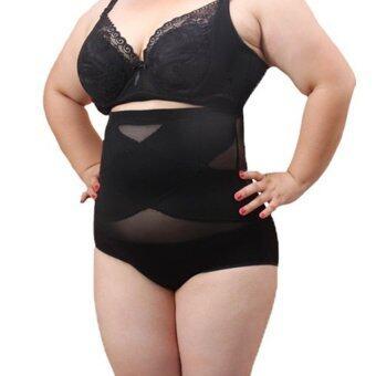 Perfect shape กางเกงเก็บพุง ลดพุง กระชับสัดส่วน BIGSIZE ไซส์ใหญ่ (สีดำ)
