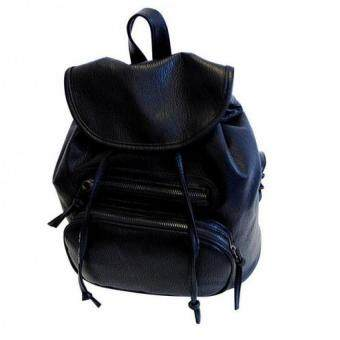Premium Bag กระเป๋าเป้สะพายหลัง กระเป๋าเป้เกาหลี รุ่น PB017 (สีดำ)