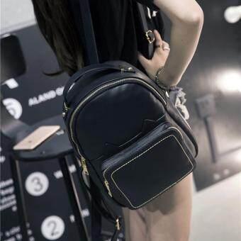 Wichu Bag กระเป๋าสะพายหลัง ผู้หญิง กระเป๋าแฟชั่น กระเป๋าเป้เกาหลี รุ่น LP-132 (สีดำ)