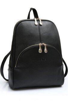 Little Bag กระเป๋าสะพายหลัง กระเป๋าเป้ กระเป๋าแฟชั่นผู้หญิง รุ่น LP-046 (สีดำ)