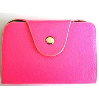goods24 กระเป๋าใส่นามบัตร กระเป๋าใส่บัตรATM (สีชมพู)