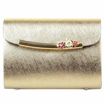 Matteo กระเป๋าใส่บัตรเครดิต 26 ใบ รุ่น Sparkling - สีทอง