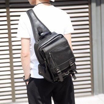 Osaka กระเป๋าคาดอก สะพายไหล่ ผู้ชาย รุ่น NE210 (สีดำ)