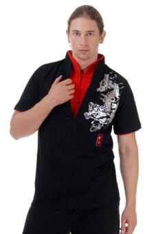 Princess of asia เสื้อเชิ้ตจีนลายมังกร (สีดำ)