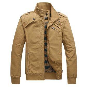 นิวแฟชั่นฤดูใบไม้ผลิมาถึงชายเสื้อลำลองผ้าฝ้ายปกเสื้อโค้ตหนาวแบบ 4 สี