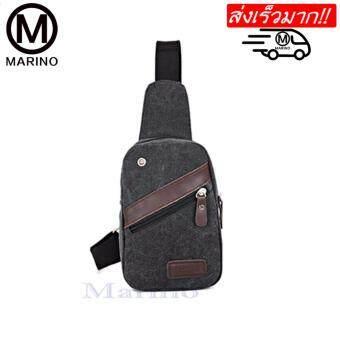 MARINO กระเป๋า กระเป๋าสะพายข้างสีดำ กระเป๋าสะพายข้างสำหรับผู้ชาย รุ่น 0164 - สีดำ