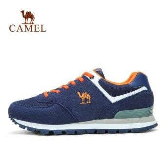 Harga Camel Fashion Outdoor Laces Men's Running Shoes Color Blue - intl