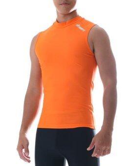 FITSUITS เสื้อแขนกุด กระชับกล้ามเนื้อ รัดกล้ามเนื้อ SPORTS COMPRESSION ชุดกีฬา ออกกำลังกาย ว่ายน้ำ วิ่ง ฟิตเนส ฟุตบอล รุ่น ORIGINAL FS-S003 สีส้ม ORANGE