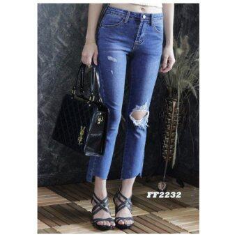 platinum fashion กางเกงยีนส์ขายาว สินค้านำเข้า เนื้อผ้า สีสวย รุ่นPFF2232