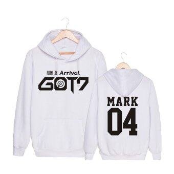 Harga ALIPOP Kpop Korean Fashion GOT7 Album FLIGHT LOG ARRIVAL Never Ever Cotton Hoodies Hat Clothes Pullovers Sweatshirt PT399(MARK White) - intl
