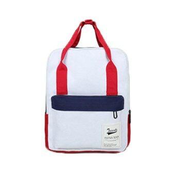 Marverlous กระเป๋า กระเป๋าเป้ กระเป๋าเป้สะพายหลัง Backpack No.8108-สีแดง&สีขาว
