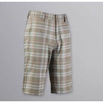 EXCEED กางเกงกอล์ฟขาสั้น KUZ010 #8 สีกากีเส้นส้ม PGM Men's Golf Short Gentleman Plaid Quick Dry Sport Trousers Summer Breathable Short XXS-3XL KHAKI-ORANGE COLOUR