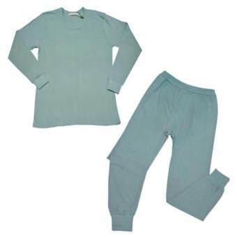 Peimm Modello ชุดชั้นในและชุดนอนชาย เสื้อแขนยาว+กางเกงขายาวสำหรับใส่กันหนาว 100% Cotton(สีเทาอ่อน)