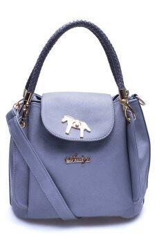 กระเป๋าถือ กระเป๋าสะพาย ผู้หญิง รหัส.โพนี่ แบ็ค โกลด์ (สีเทา)