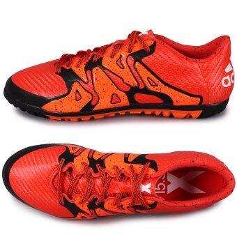 Adidas รองเท้าฟุตบอล รองเท้า100 ปุ่ม สำหรับสนามหญ้าเทียม X 15.3 (แดง ส้ม)