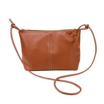 กระเป๋าสะพายสตรีกระเป๋าหนังเทียมกระเป๋าถือข่าวกระเป๋าสีน้ำตาล