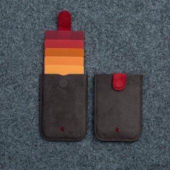 Dax กระเป๋านวัตกรรม ใส่เครดิตการ์ด นามบัตร เงิน หนังกระเป๋ากันน้ำ ดูทันสมัย ตัวเก็บแม่เหล็ก(สีดำแดง)