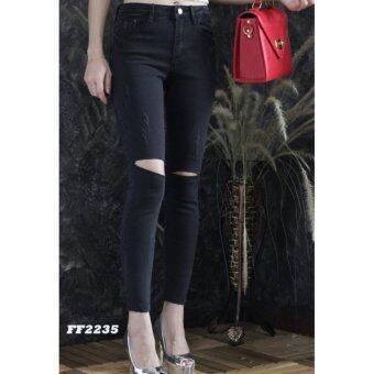 platinum fashion กางเกงยีนส์ขายาว สินค้านำเข้า เนื้อผ้า สีสวย รุ่นPFF2235
