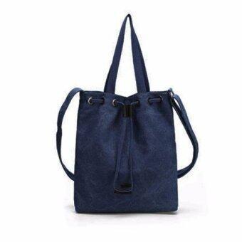 กระเป๋าผ้าสะพายข้าง สไตล์หมอคัง สีน้ำเงินเข้ม