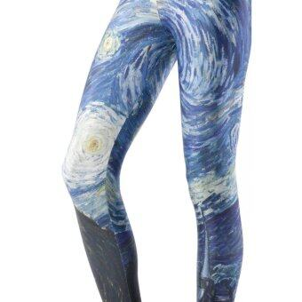 Harga foreign trade Star digital printing pants wholesale and retail multi-color sexy leggings(3057) - intl