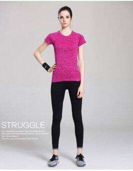 PBx ชุดออกกำลังกาย เสื้อสีชมพู +กางเกงออกกำลังกายสีดำ