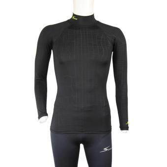 Speed เสื้อรัดกล้ามเนื้อ แขนยาว คอเต่า รุ่น Comfort Fit Long Sleeve Turtle neck (Black)