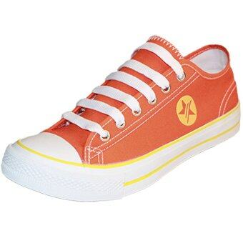 Gold city รองเท้าผ้าใบแฟชั่นโกลด์ซิตี้ Super Zapp Linear GC-1255 สีส้ม/เหลือง