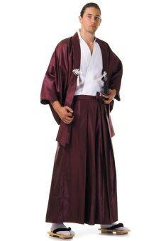 Princess of asia ชุดฮากามะพร้อมเสื้อคลุมฮาโอริ (สีขาว-เทาฟ้า)